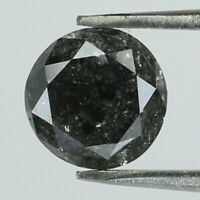 0.71 Ct Natural Loose Diamond Black Grey Color Round I3 Clarity 5.50 MM L8334