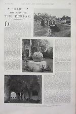 1902 PRINT ~ DELHI & THE CITY OF DURBAR KASHMIR GATE CROSS & BALL DEWAN-I-AM