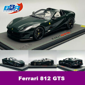 BBR 1:18 Scale Ferrari 812 GTS England Green Car Model Collection Limited 20pcs