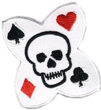 Gambling poker skull tete de mort écusson/patch rockabilly