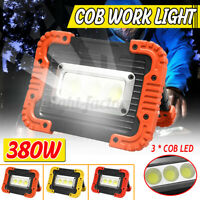 380W COB LED Light Rechargeable Outdoor Camping Work Torches USB Charging Lamp