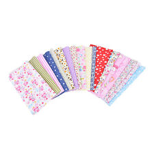 10X Mixed Printing Vintage Cotton Linen Fabric Handmade Craft DIY Cloth Sewing Z