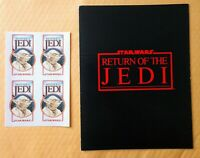1983 STAR WARS REVENGE OF THE JEDI YODA STICKERS UNUSED &  ROTJ PRESS KIT RARE!!