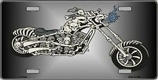 """Chopper Skull Novelty 6"""" x 12"""" Metal License Plate Auto Tag Sign"""