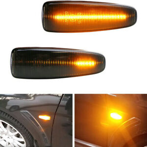Smoked Lens Sequential LED Side Marker Lights For Mitsubishi Lancer Evo X Mirage