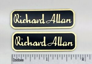 Richard Allan Speaker Badge Logo Emblem Custom Made Aluminum PAIR