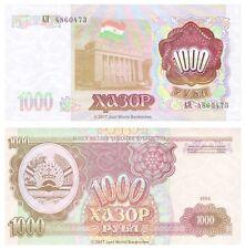 Tayikistán 1000 rublos 1994 (1999) P-9 Antigua URSS Billetes Unc
