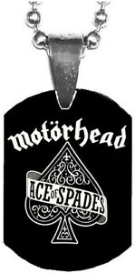 MOTORHEAD Ace Of Spades Mini Dog Tag Necklace Metal Balls Chain Rock Merch