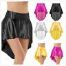 Womens Dance Pleated Skirt Asymmetrical Rumba Cha Cha Dress Costumes Clubwear
