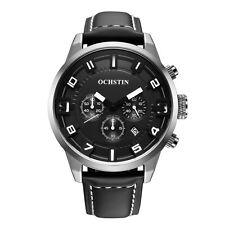 Herrenuhr Ochstin Black&White 46mm Chronograph Datum Sportuhr Neu Uhrenbox