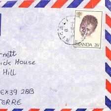 BQ220 1980 Rwanda *KIGALI* Violet/Purple CDS Postmark Airmail Cover{samwells}PTS