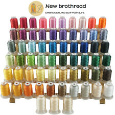 brothread 63 Colours Polyester Sewing & Embroidery Machine Thread -500M Each
