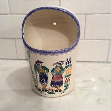 """MINT QUIMPER LARGER WALL POCKET VASE~ Made in France ~ Measures approx 7.5"""" x 5"""""""