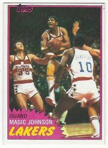 1981-82 TOPPS BASKETBALL #21 MAGIC JOHNSON 2ND YEAR - NEAR MINT