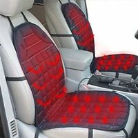 12V Car Van Heated Heating Front Seat Cushion Cover Pad Heater Warmer Winter H