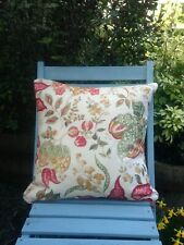 SANDERSONS 'MADAGASCAR' CUSHION COVERS  GOLD AND RED