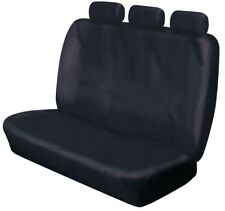 HEAVY DUTY FRONT TRIPLE BENCH BLACK WATERPROOF SEAT COVERS FOR NISSAN NAVARA