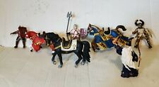 Vintage Papo Schleich Knights Horses Wizard Figures Lot