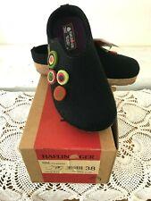 NWT HAFLINGER Chloe Clog Wool Black Slipper Germany ~ Size 38/7.5