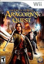 Lord of the Rings: Aragorn's Quest (Nintendo Wii, 2010) COMPLETE GAME BOX MANUAL