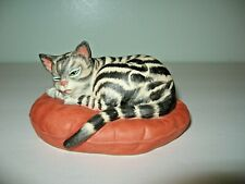 """Vintage Catnippers Collection Porcelain Cat """"Flying Tiger """" by Irene Spencer"""