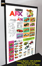 "Custom AFX Wall Art - 1971 AURORA ""The AFX Are Here""  11W x 17T Hi QA POSTER"