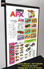 "Custom AFX Wall Art - 1971 AURORA ""The AFX Are Here""  11W x 17T Hi QA POSTER"