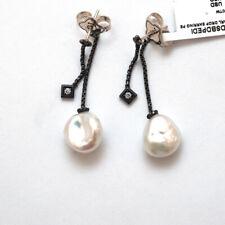 Nuevo David Yurman Solari Perla Diamante de plata esterlina Colgantes Pendientes de gota