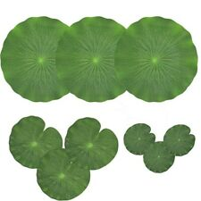 Pack Of 9 Artificial Floating Foam Lotus Leaves Water Lily Pads Ornaments Gr 2K6