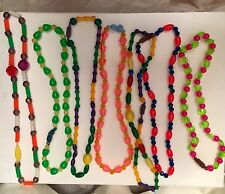 LOT OF 7-VINTAGE Carnival 1960's New Orleans Mardi Gras Beads From Hong Kong