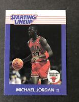 1988 Michael Jordan Kenner Starting Lineup NM SLU Card, Chicago Bulls - Nice!