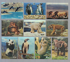 CIGARETTE/TRADE/CARDS. Shell Oil. ANIMALS (3-D).(M).(Complete Set of 16).(1975).