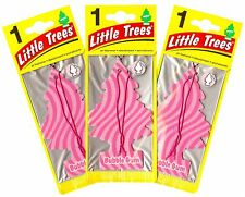 Bubble Gum Scented Little Trees Hanging Car Air Fresheners 24pk New! Sealed!