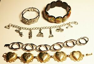 Vintage In Seattle Beautiful Bracelet Lot#680 nice mixed designs