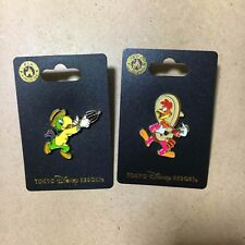 TDR Panchito José Carioca Pin Badge The Three Caballeros Tokyo Disney Resort