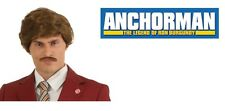 AUTHENTIC ANCHORMAN RON BURGUNDY BROWN WIG AND MUSTACHE