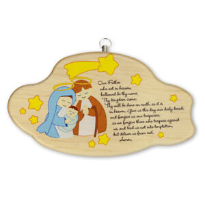 Baby's Room Gift Lord's Prayer Wall Plaque