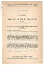 President Grover Cleveland Re: Jesse M. Stilwell Disability Pension Request