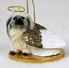 Pekingese Dog Figurine Ornament Angel Statue Hand Painted