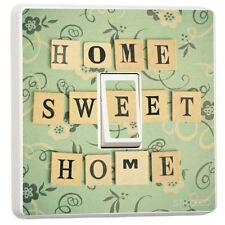 Home sweet home design unique interrupteur de lumière couverture adhésif en vinyle autocollant décor
