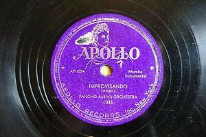 SUPERB PANCHO & ORCHESTRA LATIN  78  IMPROVISANDO / HEY AI YEA  US APOLO 1036 V+