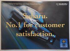 SUBARU RANGE 1999 UK Mkt Prices & Colour Guide Brochure - Impreza Legacy Outback