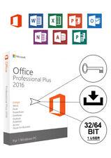 Microsoft Office 2016 Professional Plus 1PC PRO 32Bit+ 64Bit Vollversion Deutsch