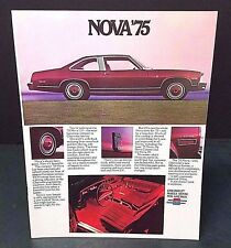 Vintage GM Chevrolet Nova Car Brochure Catalog 1975 Coupe Hatchback Sedan + MORE
