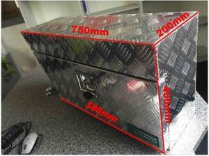 750*200*400 mm Aluminium Toolbox Storage Trailer Under Body Under Tray Tool Box