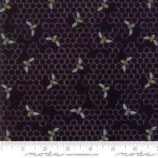 MODA Fabric ~ BEE JOYFUL ~ by Deb Strain (19874 15) Ebony - by the 1/2 yard