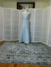 dress size 10 color mist sateen twill full lenght  designer Alfred Sung