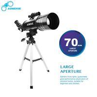 AOMEKIE 70 Astronomical Telescope Moon Spotting Scope & Smart phone adapter
