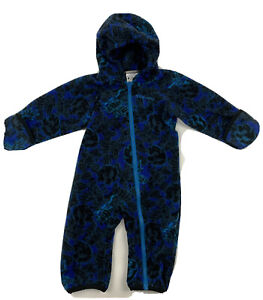 COLUMBIA SIZE 12-18 MONTHS BABY BOYS RED FULL ZIP HOODED FLEECE ONE-PIECE T794