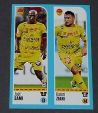 N°893 894 SAMI / ZIANI US ORLEANS PANINI FOOT 2016-2017 FOOTBALL